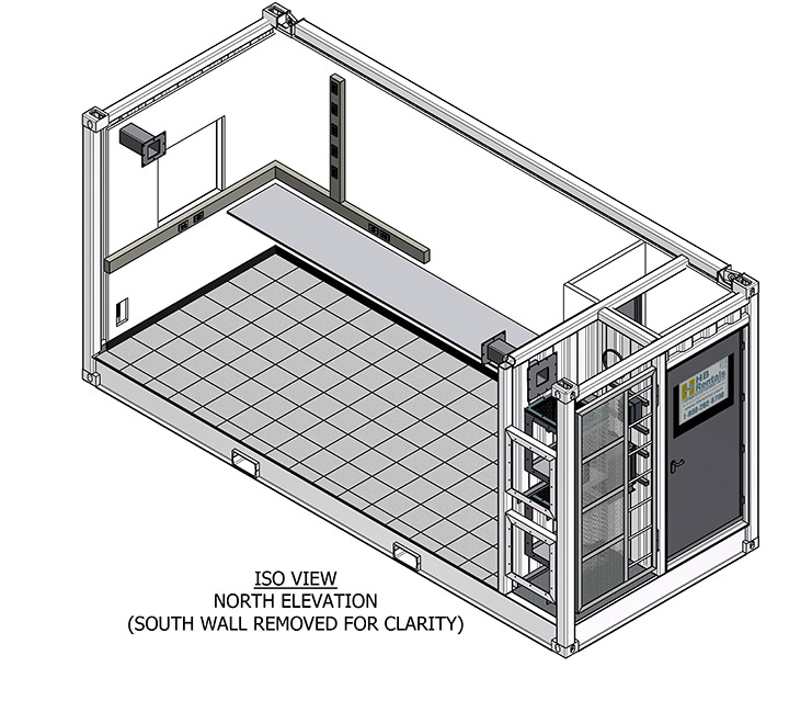 Offshore Module: Interior Drawing