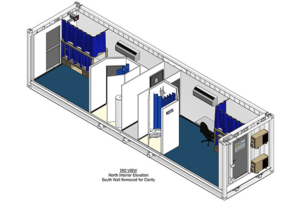 8 Man Sleeper: Interior Drawing