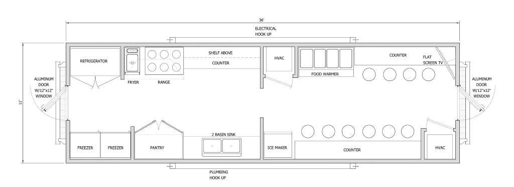 Fiberglass Galley: Diagram